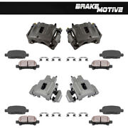 Front Rear Brake Calipers Pads For 1999 2000 2001 2002 2003 2004 Grand Cherokee