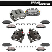 Front+rear Brake Calipers And Pads For 2005 2006 2007 - 2010 Ford Mustang 4.0l V6