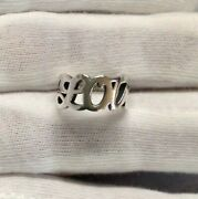 James Avery Sterling Silver Love Wrap Around Band Size 4 Ring + Cleaning Cloth