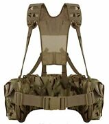 Mtp Mod Airborne Lightweight Webbing Camo Cadet Tactical 3 X Utility Pouches