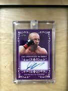 George St Pierre 2019 1/1 Leaf Auto- Industry Summit-mma Goat Holy Rare