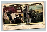 Vintage 1910and039s Postcard Comic Trite Sayings Illustrated Blind As A Bat