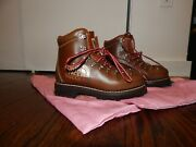X Collab Brown Boots Italian Leather 39 1/2 Sturdy And Comfy