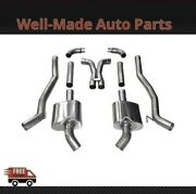 Corsa 304 Ss Cat-back Exhaust System With Split Rear Exit For 10-13 Camaro 14976