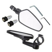 1 Set Motocycle Side Rearview 7/8 Motorcycle Side Mirror 360 Degree Swivel