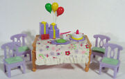 Fisher Price Loving Family Sweet Sounds Deluxe Dining Room Birthday Party Pizza