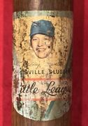 Antique 1950and039s Mickey Mantle Ny Yankees Decal Baseball Bat Vintage Early Old