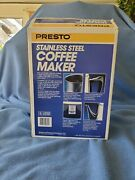 Pre Owned Presto 12 Cup Stainless Steel Percolator Coffee Maker 02811