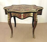 Boulle Center Table Desk French Style Louis Xvi