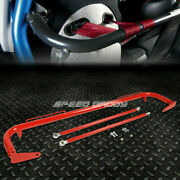 49stainless Steel Racing Safety Seat Belt Chassis Roll Harness Bar Rod Red Usa