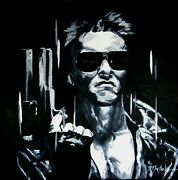 Jay Fortune Original Terminator Box Canvas Painting Signed With Coa