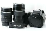 【 Exc +++++ 】 Pentax 645nii W/ Fa 45-85mm And 80-160mm Lens Set From Japan 1391