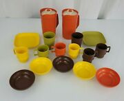 Vintage Tupperware Childrenand039s Toy Mini-party 1979 1980 Pitcher Plate Bowl Mug