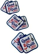 Printed Bbq Good Times And Grill Lines Hotdog Spatula Kitchen Pot Holders -6ct.