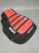 Honda Rancher 350 Seat Cover Strapper Rancher Logo Fits 2000-2003 Years