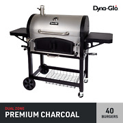 Dyna-glo X-large Premium Dual Chamber Charcoal Grill - 816 Square Inches Of Cook