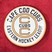 Vintage Early 1970's Cape Cod Cubs Eastern Hockey League Team Pin Pinback Button