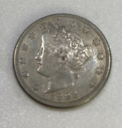 1883 Liberty V Nickel Very Good Condition, Includes 1890, 1912 V Nickels