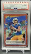 Justin Herbert Red Mojo Rated Rookie Psa10 2020 Donruss Optic. Ssp Invest 📈