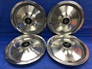 Vintage Set Of 4 1975andndash81 Lincoln 15andrdquo Hubcaps Continental