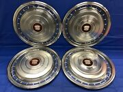 Vintage Set Of 4 1978 Cadillac 15andrdquo Hubcaps Deville Commercial Chassis Good Cond.