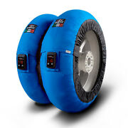 Capit Maxima Vision Pro Adjustable Motorcycle Tyre Warmers Blue M/xxl