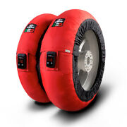 Capit Maxima Vision Pro Adjustable Motorcycle Tyre Warmers Red M/xxl