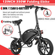 350w Folding Electric Bike Bicycle Adult Ebike 20mph With 36v Removable Battery