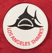 Vintage 1970's Los Angeles Sharks Wha Hockey Team Pin Pinback Button Old Nhl