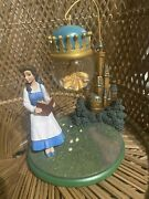 Disney Store Beauty And The Beast Belle Castle Ornament Hanging Snow Globe Rare 24