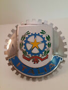 Vintage Italy Grille Badge License Plate Topper