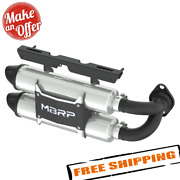 Mbrp At-9517pt Stacked Dual Slip-on Muffler For 2015-2017 Polaris Rzr Xp 1000