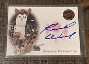 2008 Russell Westbrook Rc Press Pass Ucla Red Auto 24/25 Rare