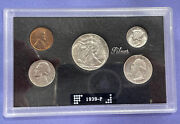 1939-p U.s. Mint Coin Set Genuine Government Case Nice 90 Silver Investment