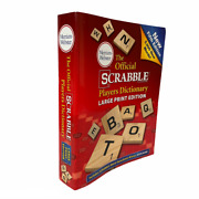 The Official Scrabble Players Dictionary Large Print Fifth Edition 2014 Pristine