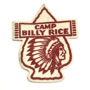 Camp Billy Rice Bsa Boy Scouts Of America Native American Indian Felt Patch