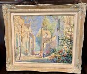 Original Jeanette Leuers Oil Painting Framed Signed Andldquo A Warm Dayandrdquo