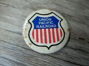 Vintage Union Pacific Railroad Pinback Collector Button Made Charles Products D4
