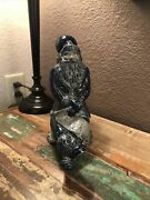 Rowe Pottery Santa Leaning Against A Post 2008