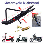 Black Motorcycle Non-slip Kickstand Side Stable Stand Leg Prop Universal Durable