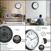 15 Large Indoor Outdoor Waterproof Wall Clock With Thermometer And Hygrometer
