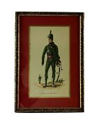 Vintage 95th Regiment Of Foot Officer 1810 Print British Army Gold Frame 19x13