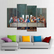 Last Supper Jesus 4 Pieces Canvas Wall Art Picture Poster Home Decor