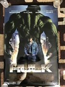The Incredible Hulk Original Movie Poster 27x40 Double Sided U.s. 2008 Marvel