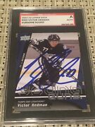 Victor Hedman '09-10 Ud Auto Sgc Authentic A Card 202 Rc Tampa Bay Lightning
