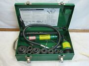 Greenlee 7306 Hydraulic Knockout Punch Driver 1/2 - 2 Conduit 767 Pump 746 Ram
