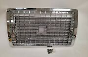 New Fits 2004 - 2015 Volvo Vnl Front Grille Grill W/ Bug Screen All Chrome