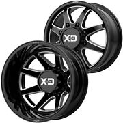 Set Of 6-20 Inch Xd Series Xd845 Pike Dually 8x170 Black/milled Wheels Rims