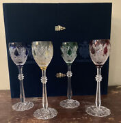 Faberge Imperial Czar Wine Glasses Goblets Cased Crystal Set Of 4 Edition 1