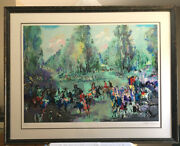Leroy Neiman And039hunt Rendezvousand039 Large Serigraph Pencil Signed/numbered Framed